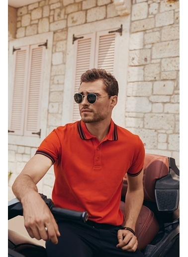 Altınyıldız Classics Slim Fit Dar Kesim %100 Koton Polo Yaka Tişört 4A4821200055 Kırmızı